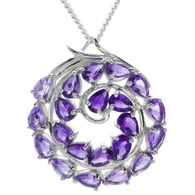 Shipton and Co Amethyst Spiral Pendant