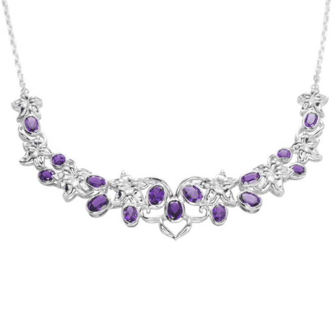 Shipton and Co Amethyst Lace Necklet
