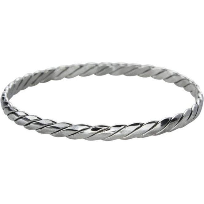 Ladies Shipton and Co Silver Double Plait Bangle TDA060NS