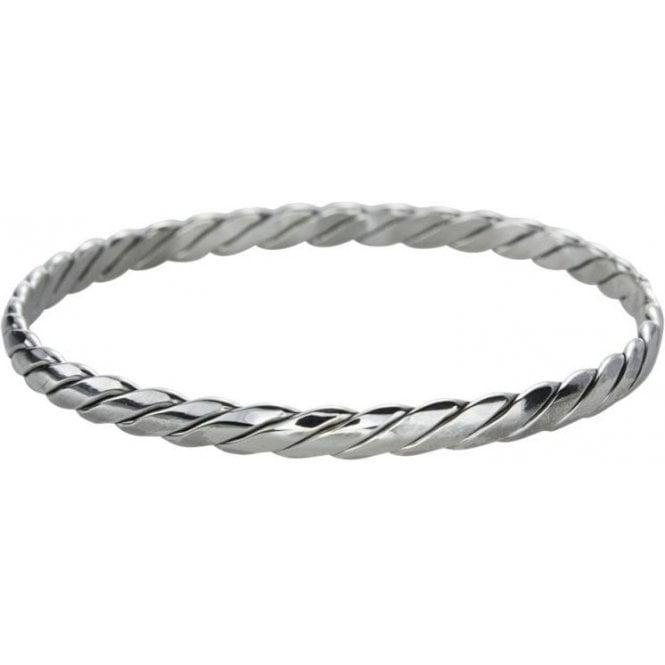 Silver Braid Bangle