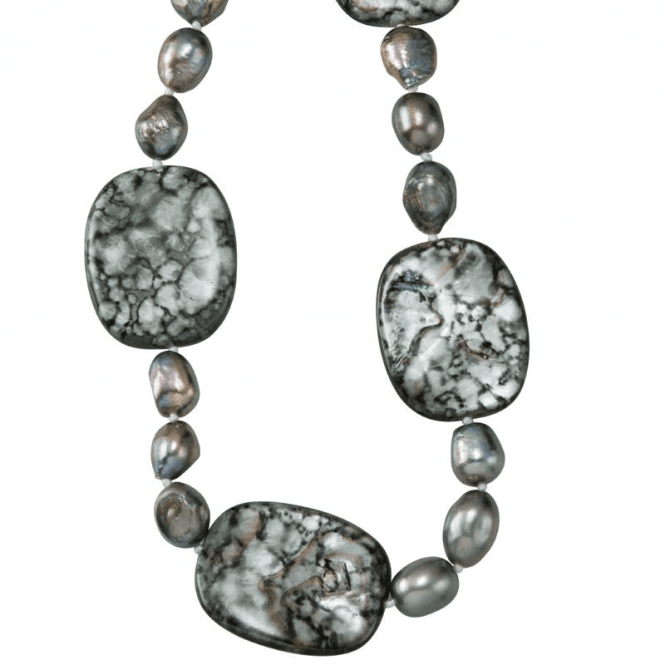 Shipton and Co Ladies Shipton and Co Silver and Freshwater Pearls Beads TEN023FPPM