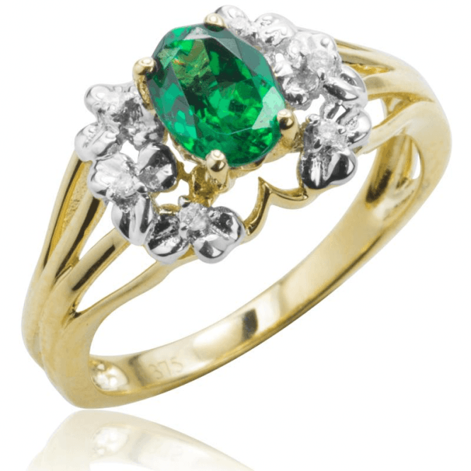 Tsavorite & Diamond Kilifi Ring