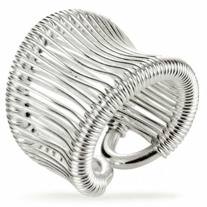 Shipton and Co Ladies Shipton and Co  Silver Multiple Strands Adjustable Ring BKA003NS
