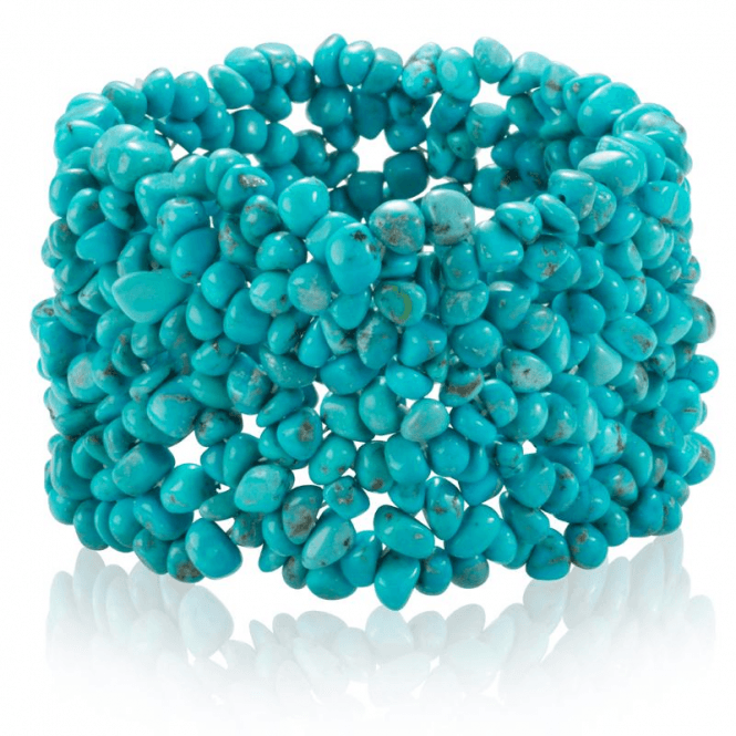 Easy-fitting Stretch Cuff of Precious Turquoise