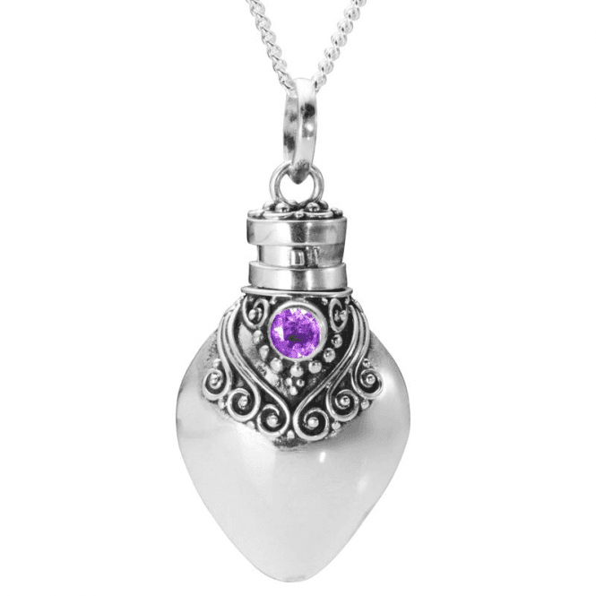 Perfume Bottle Pendant with Amethyst Eye