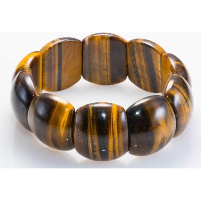 Shipton and Co Tiger Eye Cabochon Stretch Bracelet