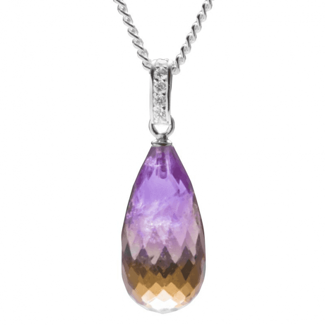 Ladies Shipton and Co Silver and 20x10mm Faceted Ametrine Briolette Pendant including a 16 Silver Chain TYS123AT