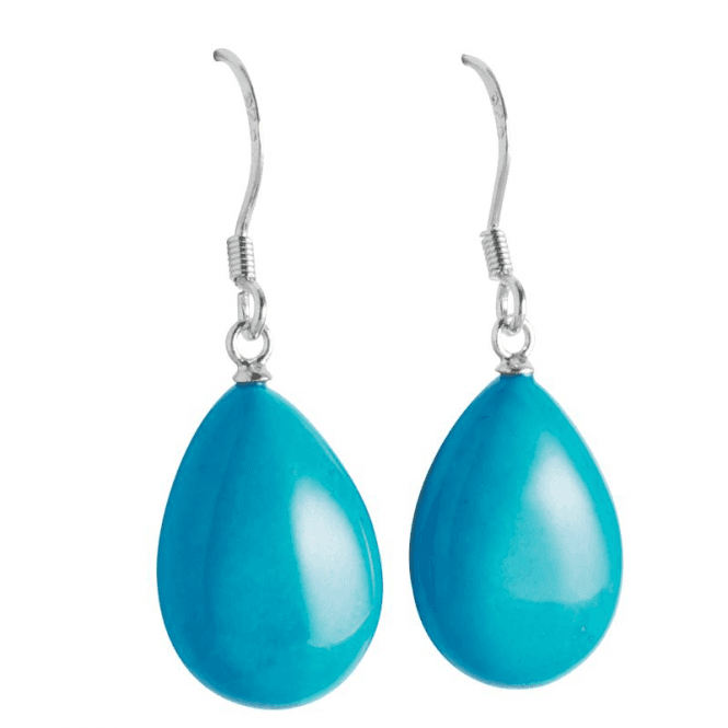 Bold Turquoise Drop Earrings