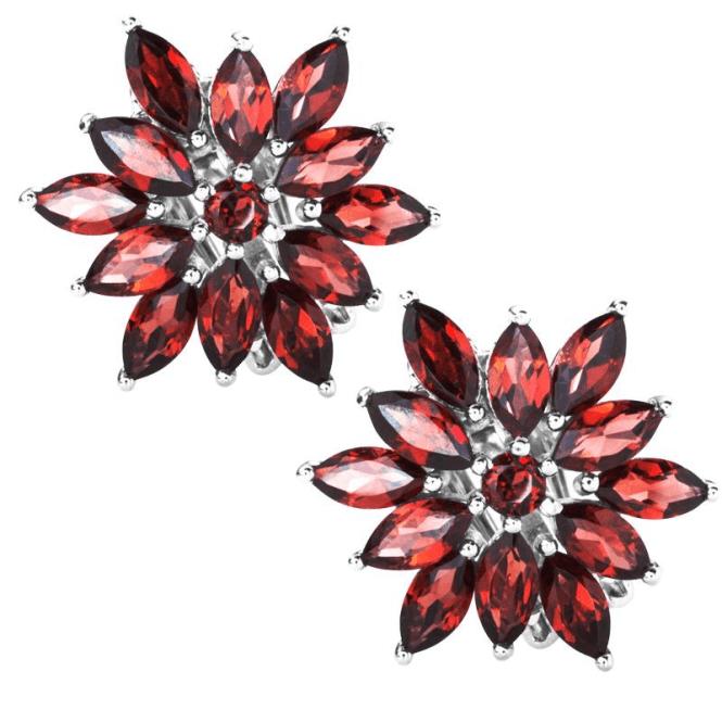Archive-Inspired Garnet Dahlia Earrings