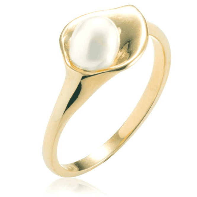 Timeless 9ct Gold Lily Ring