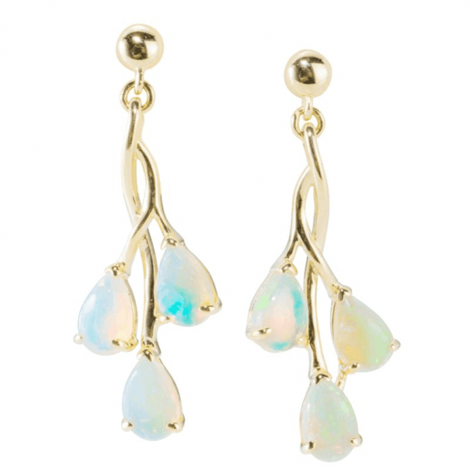 Ladies Shipton and Co Exclusive 9ct Yellow Gold and Opal Earrings EYG050OP