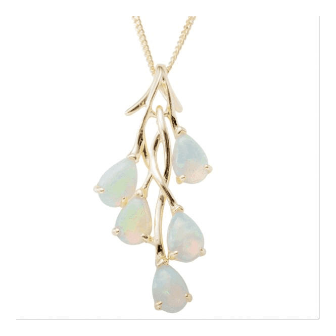 Ladies Shipton and Co 9ct Yellow Gold and Opal Pendant PYG050OP