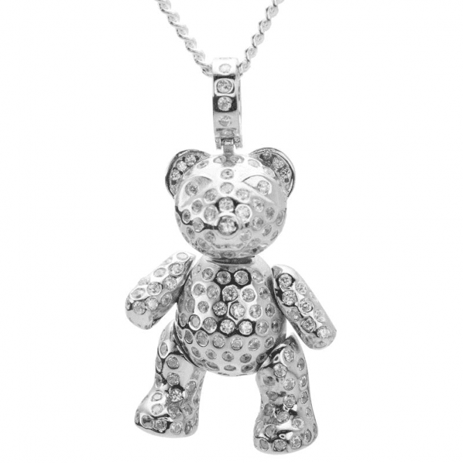 "Ladies Shipton and Co Silver and Cubic Zirconia Pendant including a 20"" Silver Chain TSS148CZ"