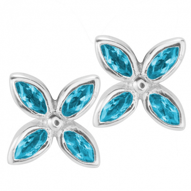 Shipton and Co Blue Topaz Flowers
