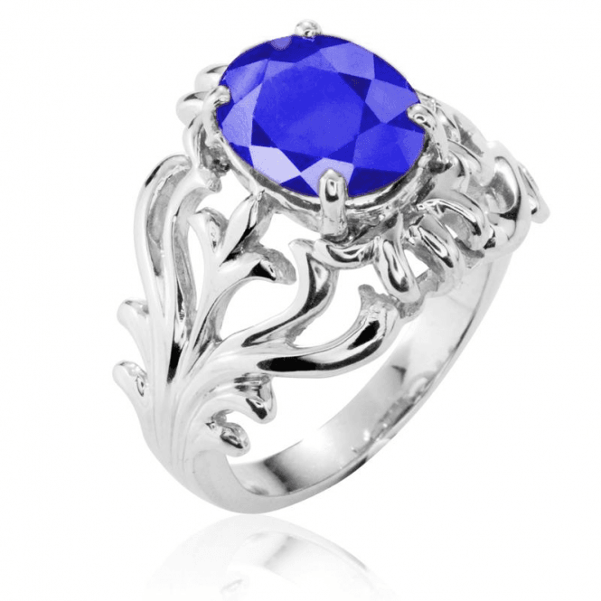 Rococo Style 3ct Sapphire Ring