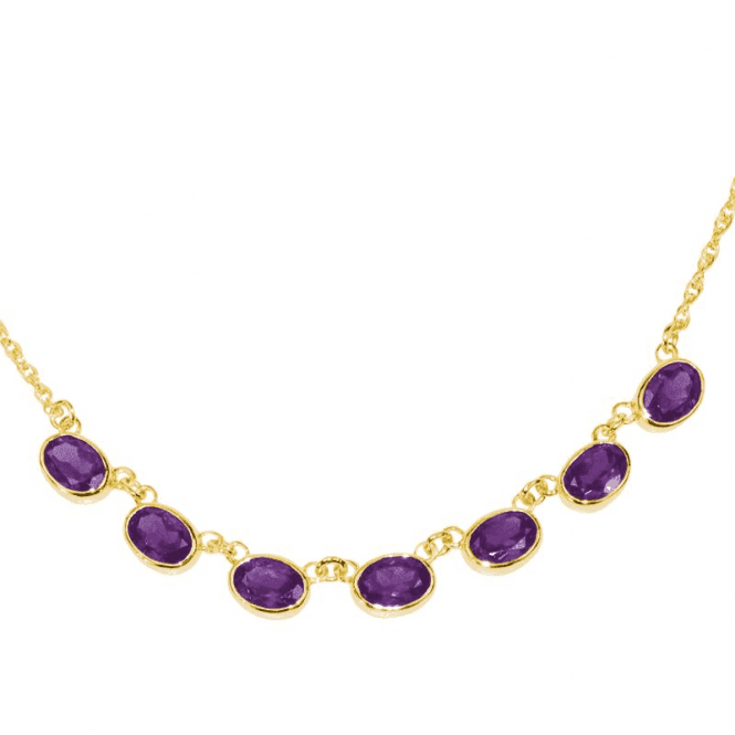Shipton and Co Ladies Shipton and Co Exclusive 9ct Yellow Gold and Amethyst  Necklace NY1654AM
