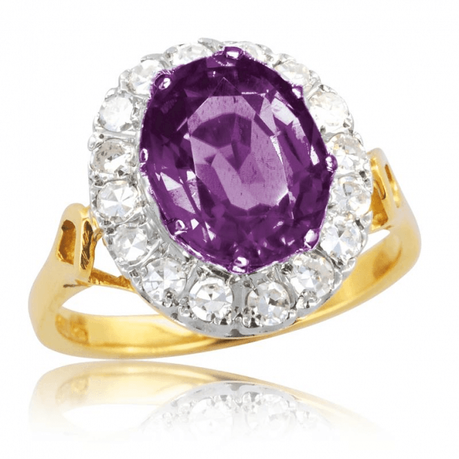 Ladies Shipton and Co Exclusive 18ct Yellow Gold and Amethyst Ring RZ1097AM
