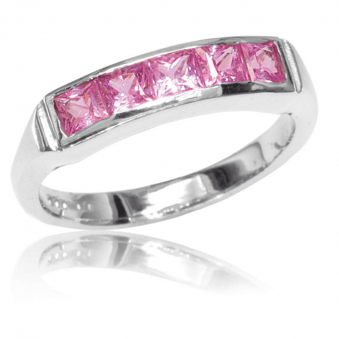 Shipton and Co Ladies Shipton and Co Exclusive 9ct White Gold and Pink Sapphire Ring RW1375PS