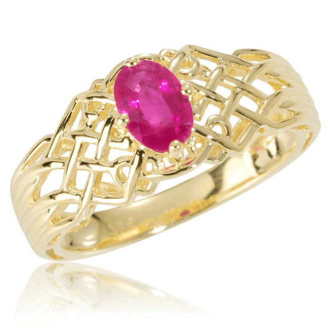 Ladies Shipton and Co Exclusive 9ct Yellow Gold and Ruby Ring RYG037RU
