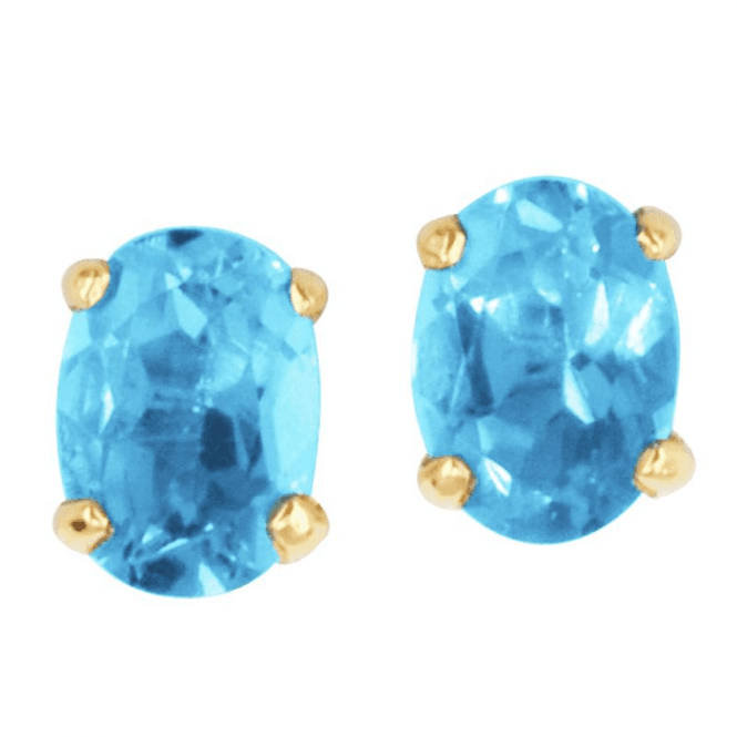 Swiss Blue Topaz in 9ct Gold