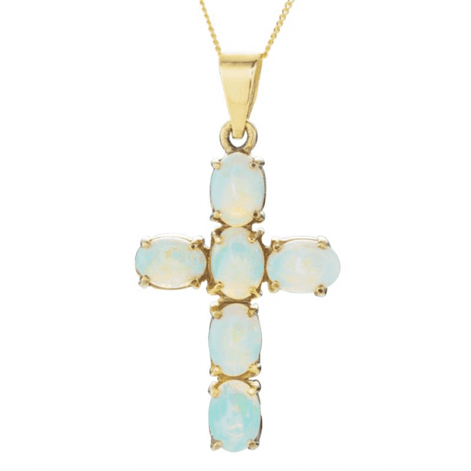 Shipton and Co Ladies Shipton and Co Exclusive 9ct Yellow Gold and Opal Pendant including a 16 9ct Chain PY1460OP