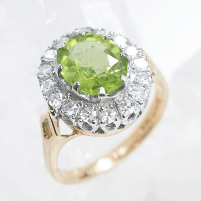 Shipton and Co Ladies Shipton and Co Exclusive 18ct Yellow Gold and Peridot Ring RZ1097PE