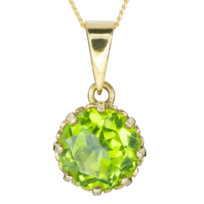 "Shipton and Co Ladies Shipton and Co Exclusive 9ct Yellow Gold and Peridot Pendant including a 16"" 9ct Chain  PY2165PE"