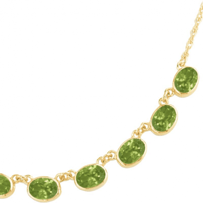 Shipton and Co Ladies Shipton and Co Exclusive 9ct Yellow Gold and Peridot Necklace NY1654PE
