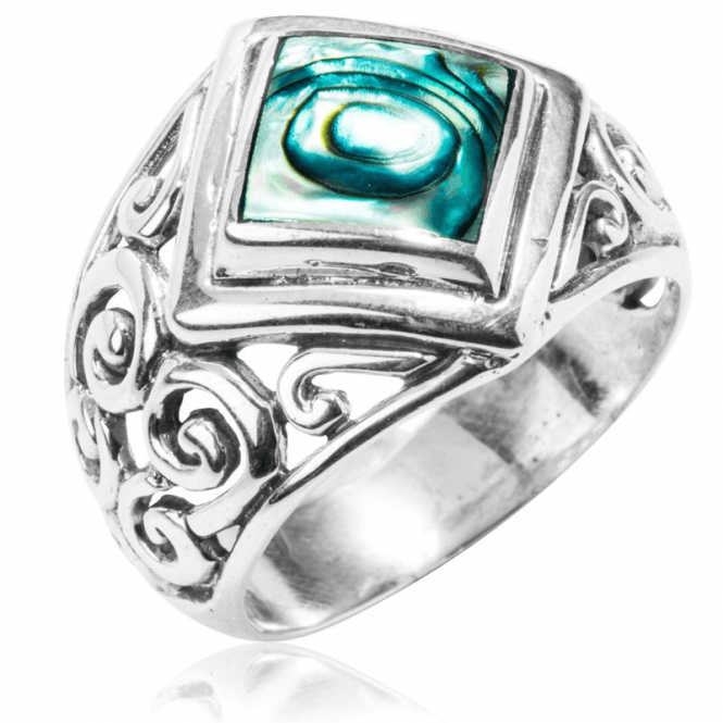 Peace Ring of Paua & Silver