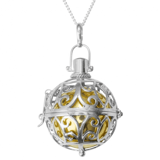 Ladies Shipton and Co Silver and Amethyst Music Ball Pendant including a 24 Silver Chain TFE072AM