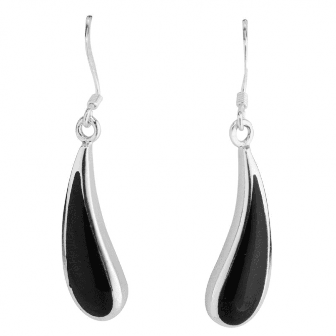 Shipton and Co Ladies Shipton and Co Silver and Onyx Earrings TDA132ON