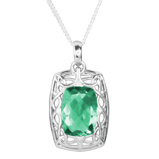 """Shipton and Co Ladies Shipton and Co Exclusive Silver and Flourite Pendant including a 16"""" Silver Chain PQA421FL"""
