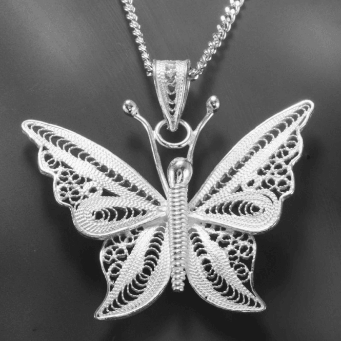Fluttering Swirls of Sterling Silver