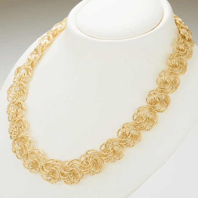 Shipton and Co Ladies Shipton and Co 9ct Yellow Gold Necklace TEM044NS