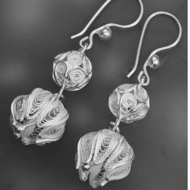 Intricate Flower Art in Sterling Silver