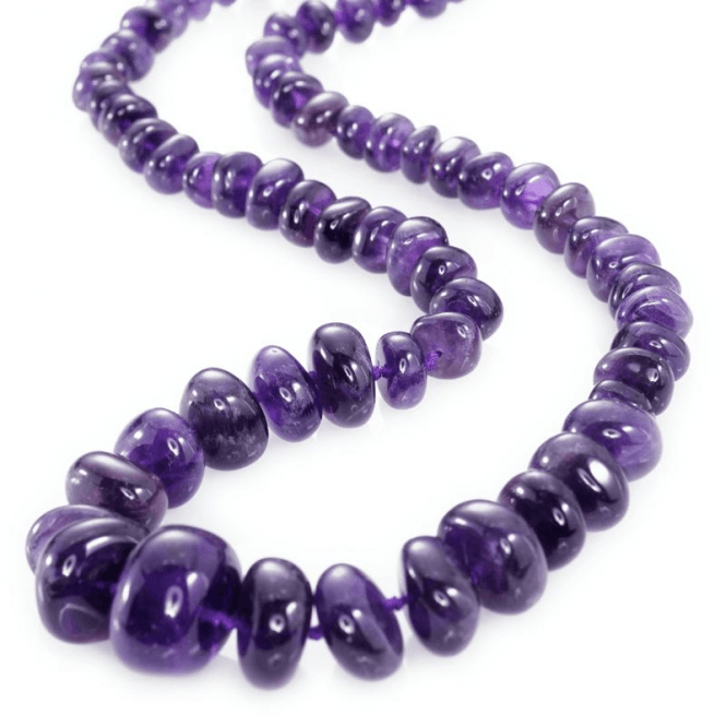 Shipton and Co Ladies Shipton and Co Silver and Amethyst Beads BKC004AM