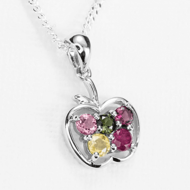 Ladies Shipton and Co Silver and Tourmaline Pendant including a 18 Silver Chain TFE083TT