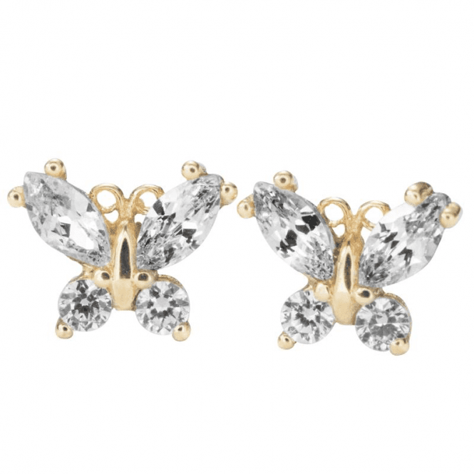 9ct Gold Butterfly Earrings