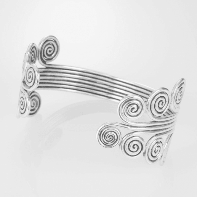Extra Pure Silver Bangle Softens to your Wrist