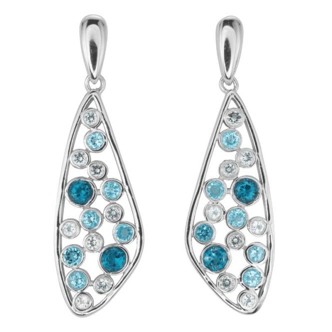 Petrel, Sky & White Topaz earrings