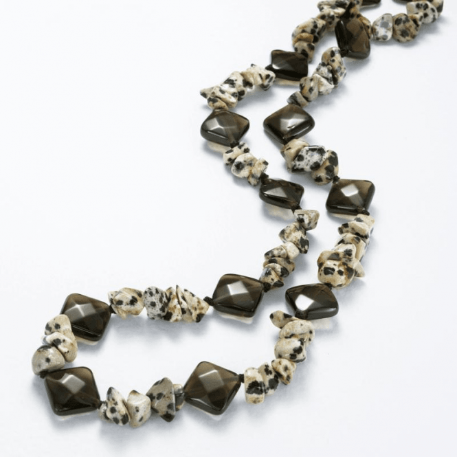 Shipton and Co Ladies Shipton and Co Exclusive Silver and Smokey Quartz Beads BSS095SQJA