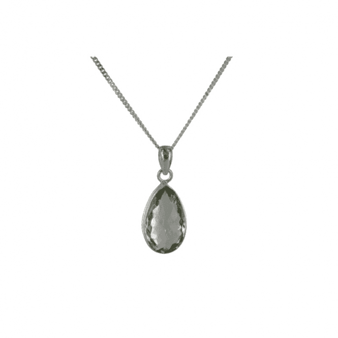 "Shipton and Co Ladies Shipton and Co  Silver and Green Amethyst Pendant including a 16"" Silver Chain  TMV002GM"