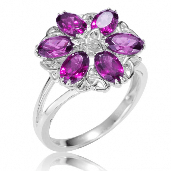 Shipton and Co Ladies Shipton and Co Silver and Rhodolite Garnet Ring RQA444RH
