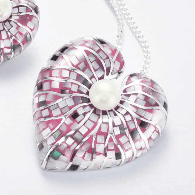 Pearl Hearts Display Intriguing Mosaic Delicacy Save £30 on the Set