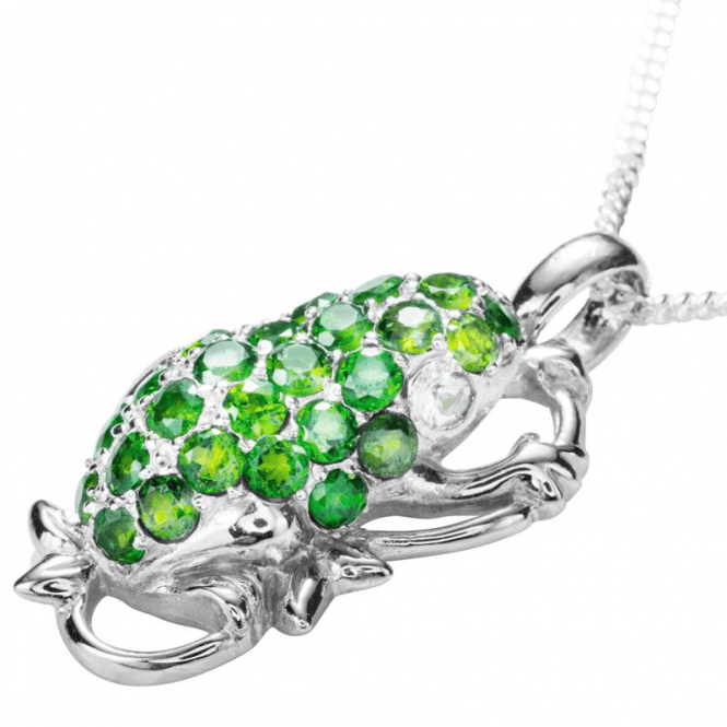 Shipton and Co Ladies Shipton and Co Exclusive Silver and Diopside Pendant including a 16 Silver Chain PQA429DO