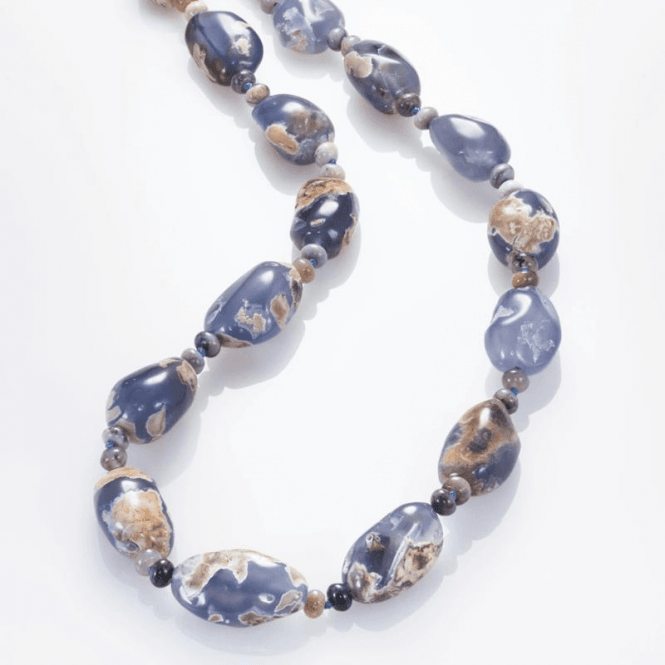 """Shipton and Co 28"""" Nature Trail in Chalcedony & Sage Amethyst"""