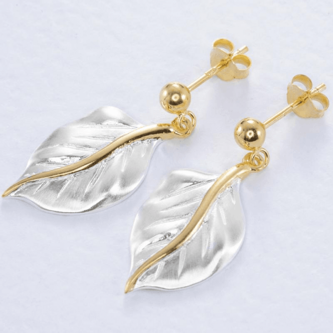 Romantic Leaf Duet of Silver & Gold