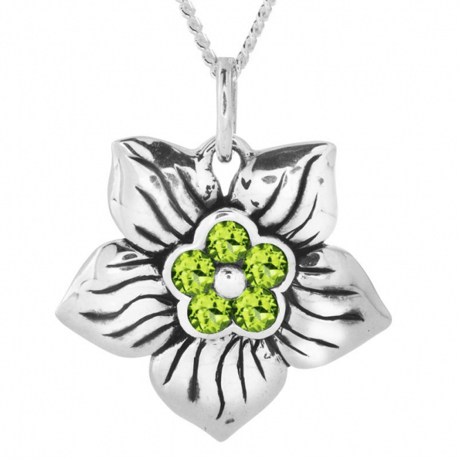 Shipton and Co Ladies Shipton and Co Silver and Peridot Pendant including a 16 Silver Chain TPX026PE