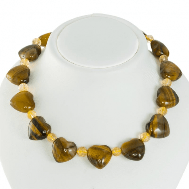 Ladies Shipton and Co Silver and Tiger Eye Beads BFE041TECI