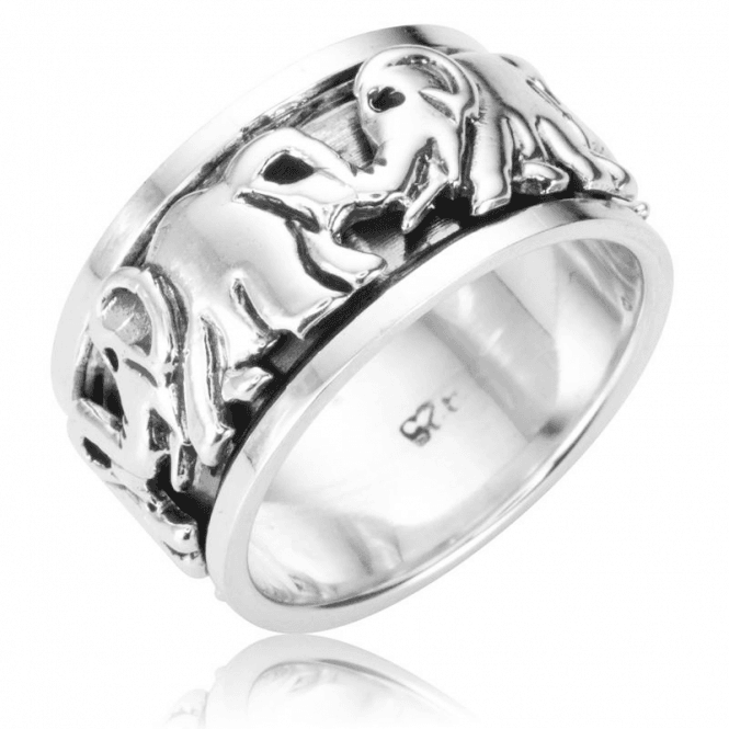Spinner Ring Turns as if the Elephants are Walking